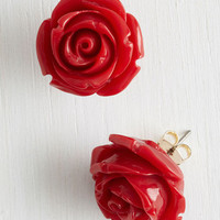 Retro Rosie Earrings in Red by ModCloth