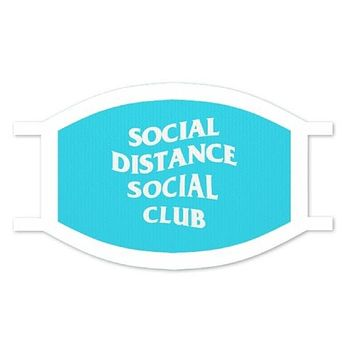 Social Distance Social Club Face Cover