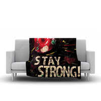 """Alexa Nicole """"Stay Strong"""" Small Fleece Blanket - Outlet Item"""