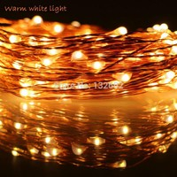 6m 10m 12m 20m 5Modes 6AA Battery Operate LED String Lights Outdoor Waterproof Copper Wire Starry Christmas Fairy Lights