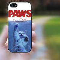iphone 5c case,iphone 5 case,iphone 5s case,iphone 5s cases,iphone 5 cases,iphone 5c case,cute iphone 5s case--Paws Jaws Movie,in plastic.
