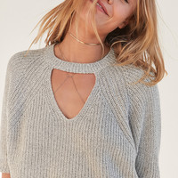 Silence + Noise Maddie Cutout Cropped Sweater | Urban Outfitters