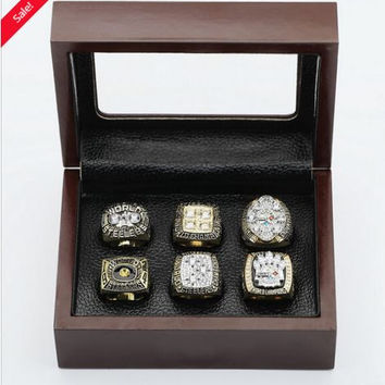(FREE SHIPPING) PITTSBURGH STEELERS CHAMPIONSHIP RINGS (6) FOR YEARS 74 75 78 79 05 08
