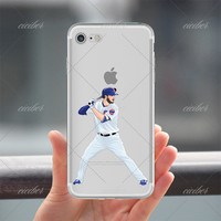 Chicago Cubs Baseball Clear Phone Case for ALL iPhone 7 7Plus 6 6s Plus 5 5s SE