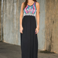 My Beginning And End Maxi Dress, Black