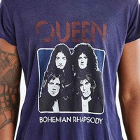 Queen Bohemian Rhapsody Scoop Neck Tee- Blue