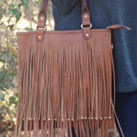 Forever My Love Purse: Cognac
