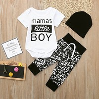 """Mama's Little Boy"" Casual Set 0-24M"