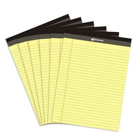 Yellow legal writing pad 6PCS A4 Memo Pad USA style 50 sheets/PCS Notebook paper Office School Supplies Notepad