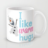 i like warm hugs smiling olaf.. frozen Mug by studiomarshallarts