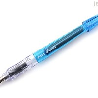 JetPens.com - Pilot Plumix Fountain Pen - Light Blue Body - Medium Flat Italic Nib