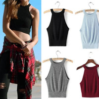 Hot Bralette Stylish Beach Summer Comfortable Knit Sexy Crop Top Tops Vest [4918719620]