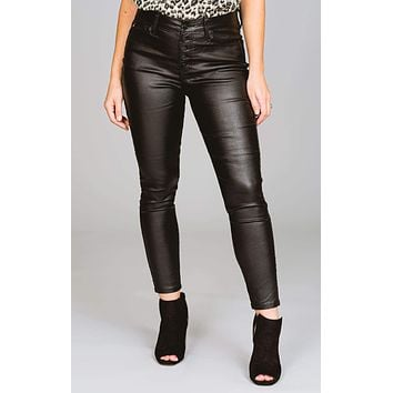 Sandy Faux Leather Skinny Pants