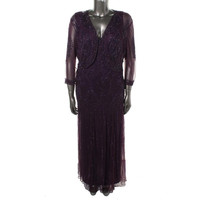 Pisarro Nights Womens Tulle Prom Dress With Cardigan