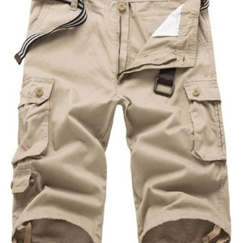 Casual Zipper Fly Cargo Shorts