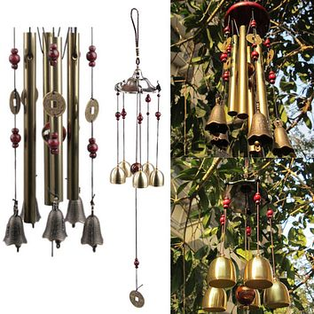 Outdoor Living Wind Chimes Yard Garden Tubes Bells Copper Antique Windchime Wall Hanging Home Decor Decoration Wind Chimes