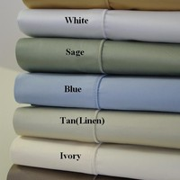 Queen Solid 450 Thread count 100% Combed cotton Sheet sets