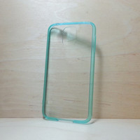 Samsung Galaxy S5 Case Acrylic Bumper and Clear Hard Plastic Back - Mint