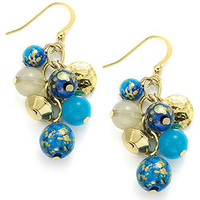 Style&co. Earrings, Gold-Tone Blue Bead Cluster Drop Earrings - All Fashion Jewelry - Jewelry & Watches - Macy's