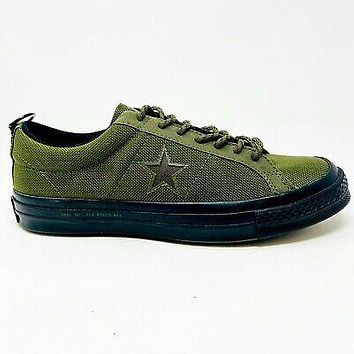 Converse One Star Ox Carhartt WIP Olive Black Mens Size 8 162820C