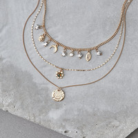 AEO Rose Charm Necklace, Gold