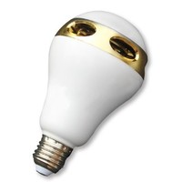 GoldMice Bluetooth Speaker and Smart LED Colorful Bulb with Various Changeable Light Colors, Timing Function and APP Control