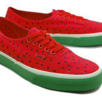 Rakuten: The [sellout ]? deep-discount mass arrival! ? VANS AUTHENTIC (WATERMELON PRIINT) HIGH RISK RED/BLACK station wagons / authentic / watermelon print / watermelon / red / black / classical music line- Shopping Japanese products from Japan