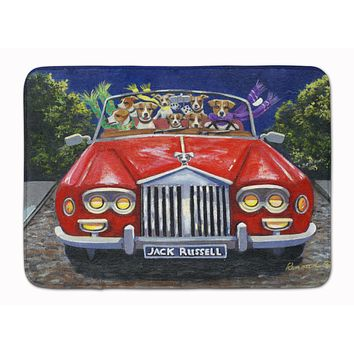 Jack Russell Evening Cruise Machine Washable Memory Foam Mat PPP3262RUG