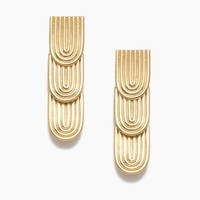 Curved Watercress Earrings - Gold