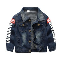 BibiCola childre boys clothing denim hot sale baby boys jacket outwear jeans jacket cotton toddler baby outerwear