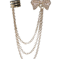 Rhinestone Bow Cuff Earring   Shop Jewelry at Wet Seal