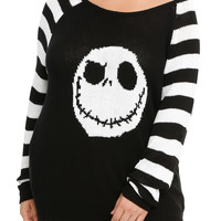 The Nightmare Before Christmas Jack Head Knit Sweater Plus Size