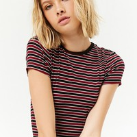 Striped Ribbed Knit Tee