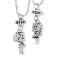 Boy and Girl Best Friends Magnetic Pendant Necklaces  | Claire's