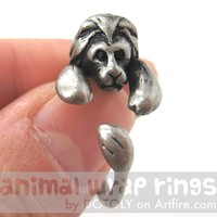 Realistic Lion Animal Wrap Around Ring in Silver - Sizes 4 to 9 Available