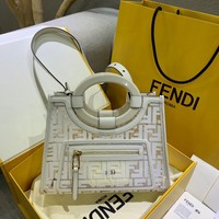 Fendi Women Leather Shoulder Bag Crossbody Satchel Handbag