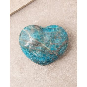 Blue Apatite Healing Heart - As-Is-Clearance