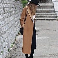ZARA CAMEL WOOL HAND MADE COAT SIZE SMALL_MEDIUM RRP £129 REF 7522 254