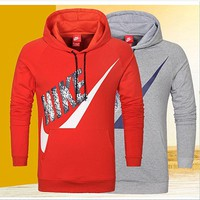 NIKE fashion women and man coat long sleeve warm Hooded pullover top PLUS SIZE