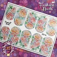 Fashion Nails - 3D 14 Water Decals (Discontinued by WUN)