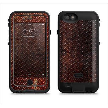 The Rusty Diamond Plate Texture  iPhone 6/6s Plus LifeProof Fre POWER Case Skin Kit