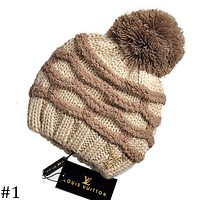 LV Louis Vuitton 2018 autumn and winter knitted wool ball wool cap F-AJIN-BCYJSH #1