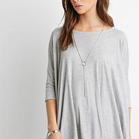 Slouchy Ribbed Knit Top