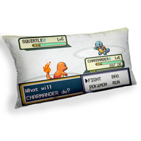 Pokemon Battle Squirtle Charamander - Custom Geek Fabric Cushion Pillow cover Home Decor Thrown Pillow With Inner