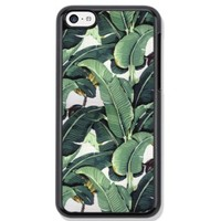 Vogueline Tropical Banana Tree Leaves Design Hard Case Cover Skin for iphone 6 case iphone 6plus iphone 5 5s 4 4s iphone 5c Samsung Galaxy S5 S3 S4 note 2 note3 note4 (Case for iPhone 5c(Black Hard))