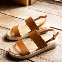 Superb Two Band Sandal, Tan