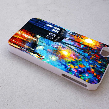 painting tardis dr who case for iPhone 4/4s/5/5s/5c/6/6+ case,iPod Touch 5th Case,Samsung Galaxy s3/s4/s5/s6Case, Sony Xperia Z3/4 case, LG G2/G3 case, HTC One M7/M8 case