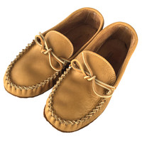 Men's Moosehide Leather Driving Moccasin Shoes