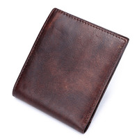 mens retro handmade genuine leather wallet card hold purse 03