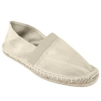 Capelli New York Espadrille With Crochet Stitching And Floral Lining On Rubber Outsole Natural 9